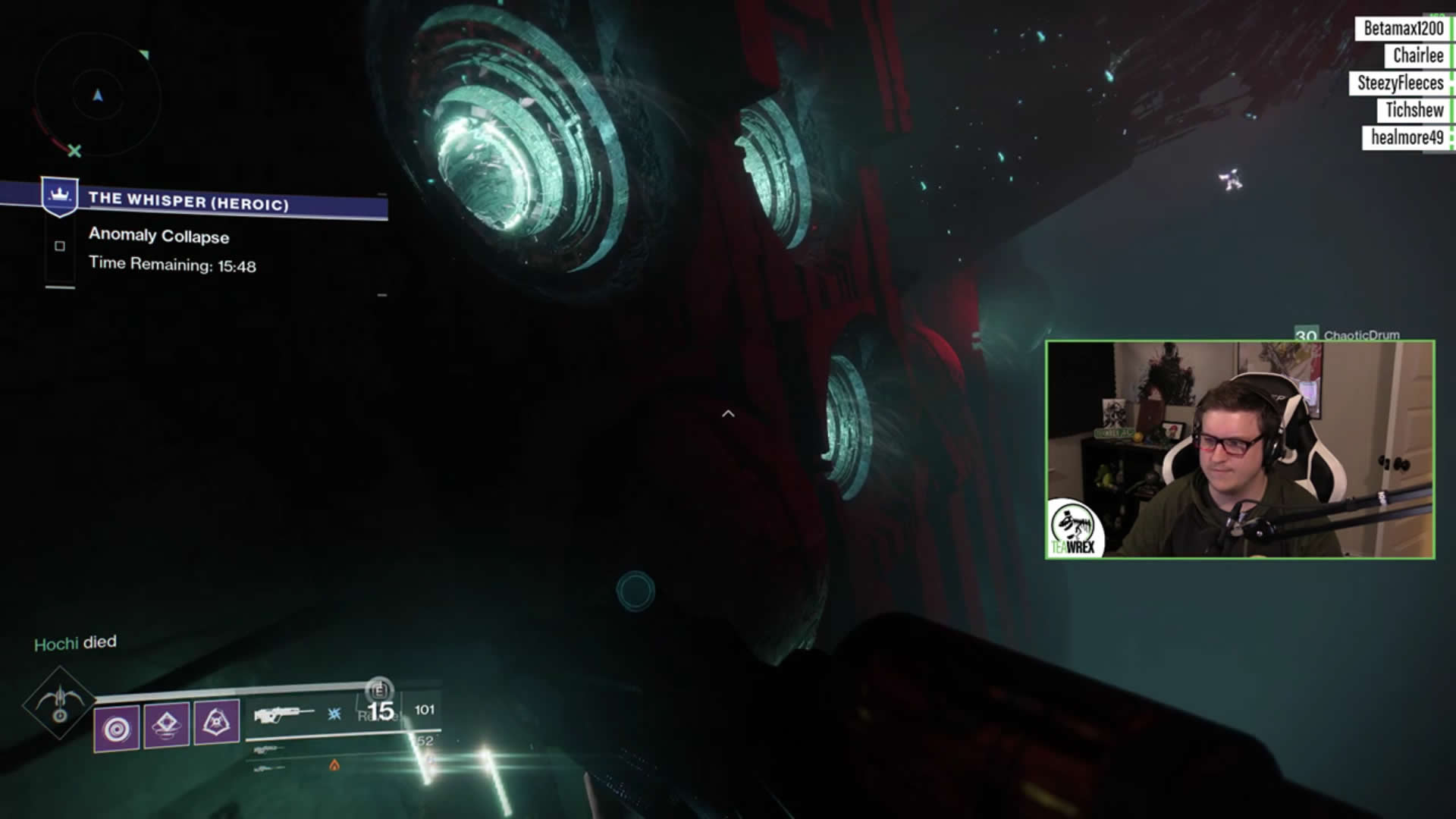 How to get the enigmatic exotic ship blueprint in destiny 2 whisper the second hidden chest is located within the rooms with the different tunnels normally guardians would be heading toward the one on the far right hand malvernweather Image collections